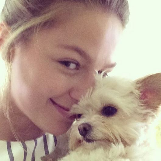 Photo of Melissa Benoist & her Dog Milli